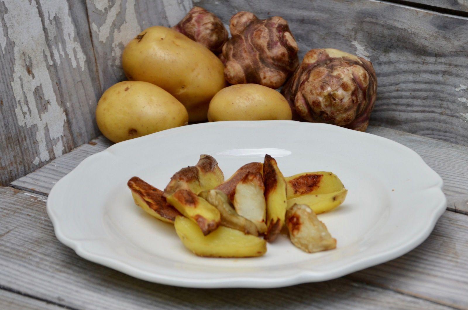 Topinambours Et Pommes De Terre Rotis Au Four La P Tite Cuisine De