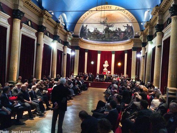 Temple Arthur Groussier, 28 mai 2014 pendant le débat. (crédit photo : JL Turbet)