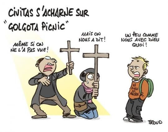"Manifestations de Civitas contre ""Golgota Picnic"""