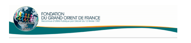 Soutenir la fondation du Grand Orient de France