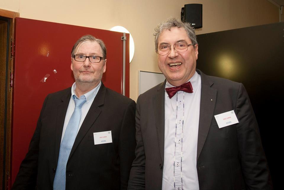 Roger Dachez, Alain-Jacques Lacot, Eric Algrain et Michel Meley, Président de la Fédération Française du Droit Humain.