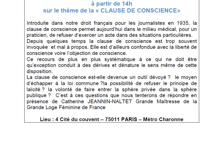 GLFF, 7 décembre : la Clause de Conscience