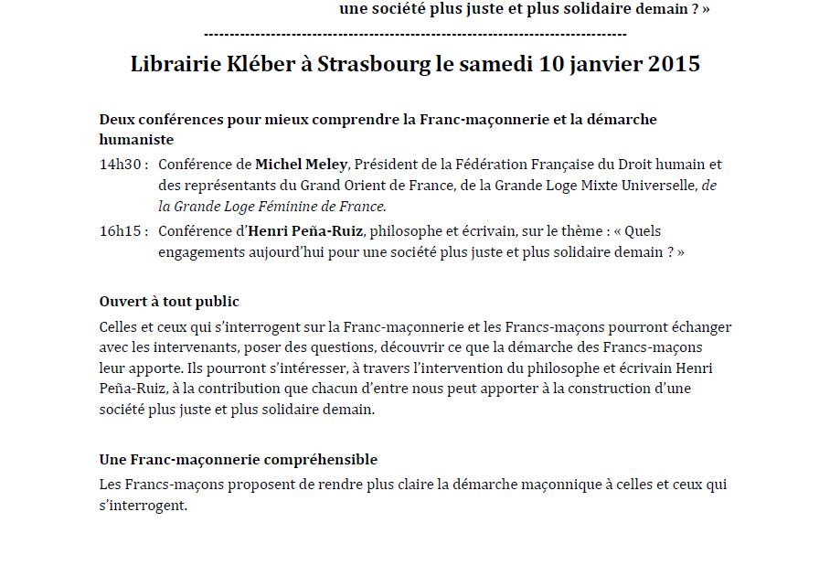 Strasbourg : les francs-maçons se présentent.