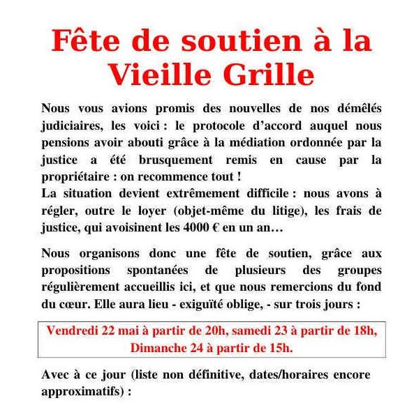 Soutenons la Vieille Grille !
