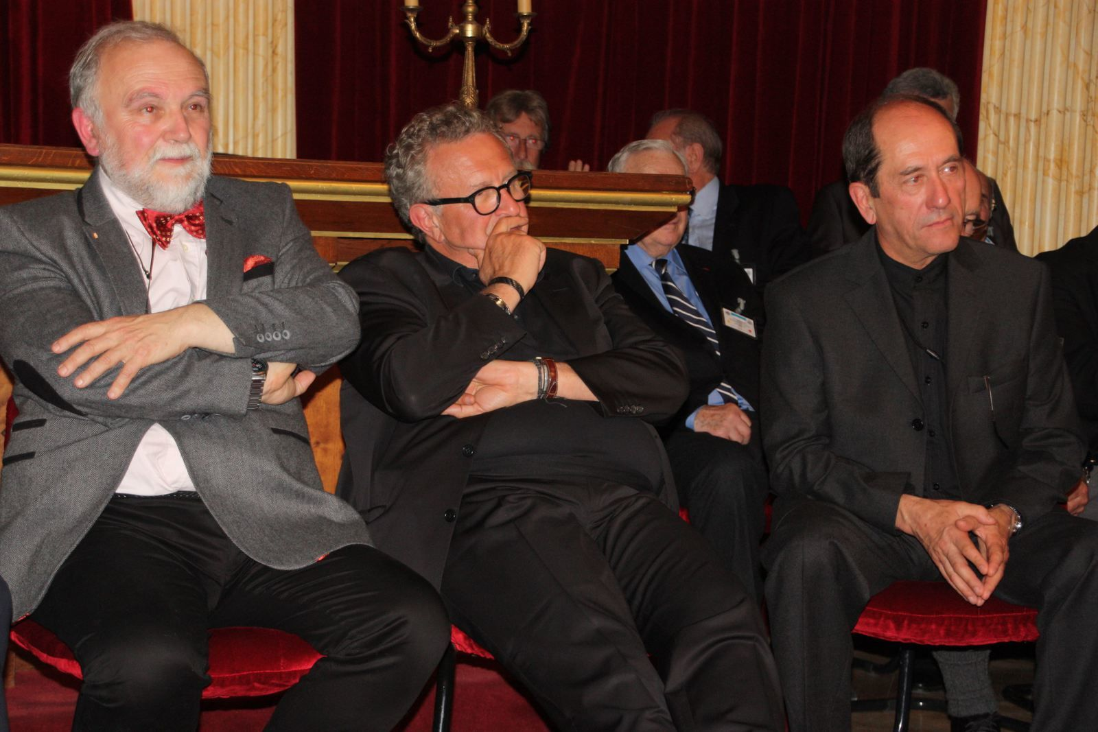Yves Hiver-Messeca, Michel Field, René Rampnoux (3° GM adjoint), (photo Patrick Lafourcade)