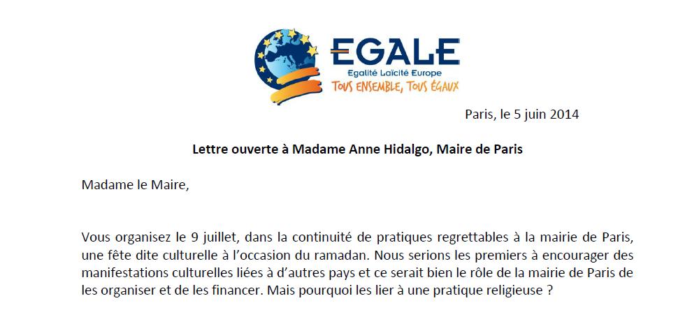 Après des crèches dans des mairies ou des conseils généraux, voici &quot&#x3B;la Nuit du Ramadan&quot&#x3B; à la Mairie de Paris !!!