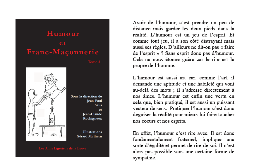 Humour et franc-maçonnerie... Le tome 3 va sortir !