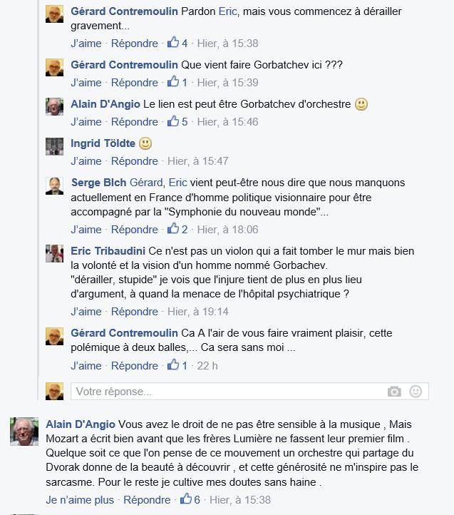 Copie d'écran de ma page Facebook du 23 avril 2016, page totalement publique.