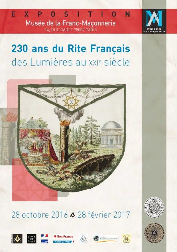 230 ans d'agrégation du Grand Chapitre Général (Rite Français) au GODF. L'Expo à ne pas manquer...
