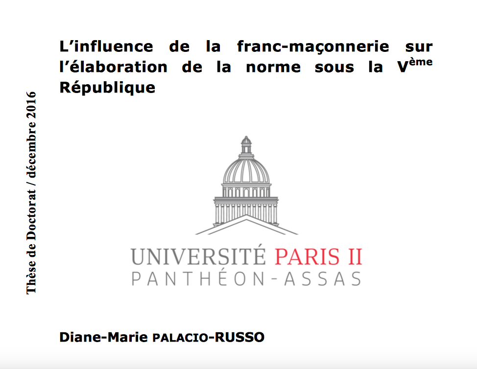 La thèse de Diane-Marie Palacio-Russo