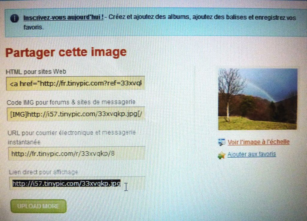 COMMENT TROUVER L'URL D'UNE PHOTO