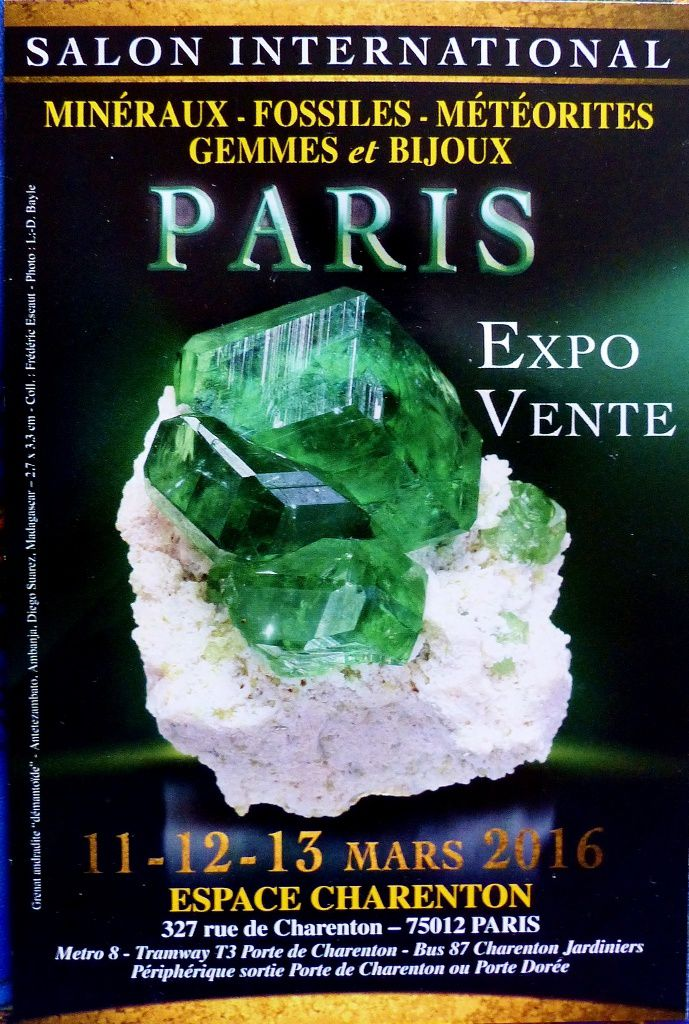 Salon international mineraux et fossiles paris 12 2017 - Porte de charenton metro ...