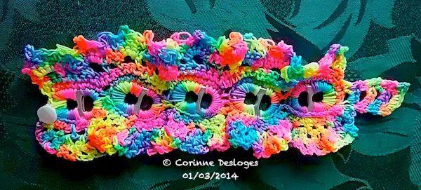 CROCHET-SODA : bracelet &quot&#x3B;coca-rainbow&quot&#x3B; terminé