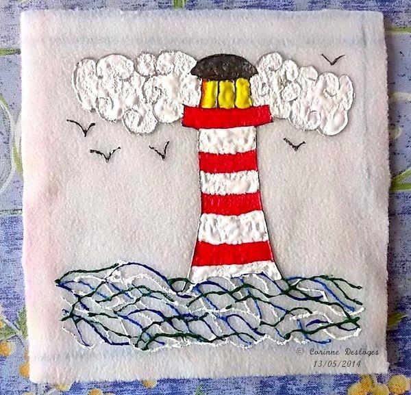 Mon phare (peintures Tulip® sur tissu polaire)