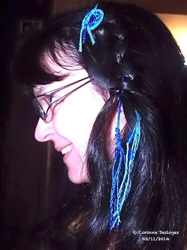 Bijoux de cheveux &quot&#x3B;natte Maïta&quot&#x3B;