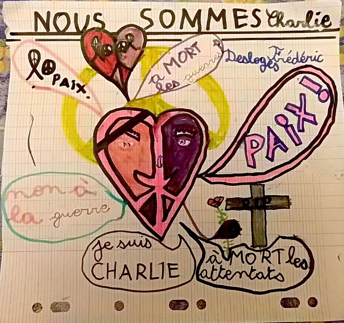 DESSIN de Frédéric en hommage à Charlie Hebdo