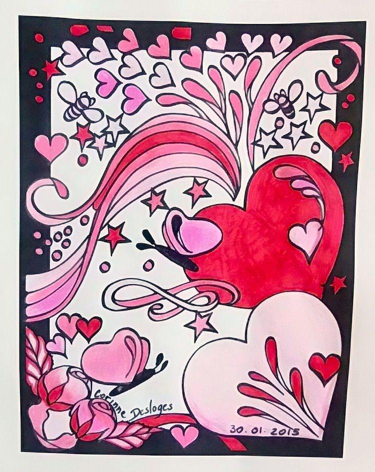 COLORIAGE de St Valentin