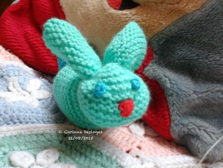 Lapin au tricot + crochet