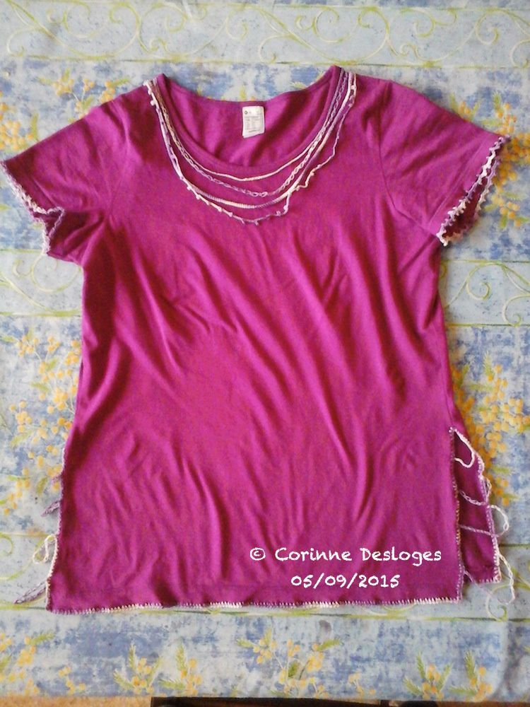 CUSTO-CROCHET : mon T-shirt violet, 2