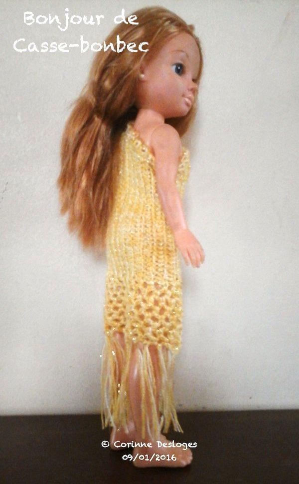TUTO CROCHET : robe &quot&#x3B;Soleil de Minuit&quot&#x3B; pour poupée Nancy