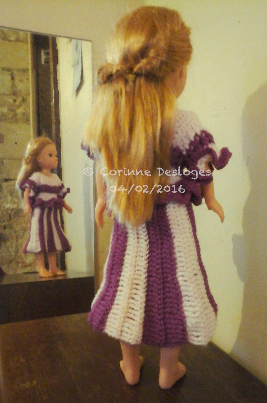 "Ensemble ""Liseron"", création crochet pour poupée Nancy."