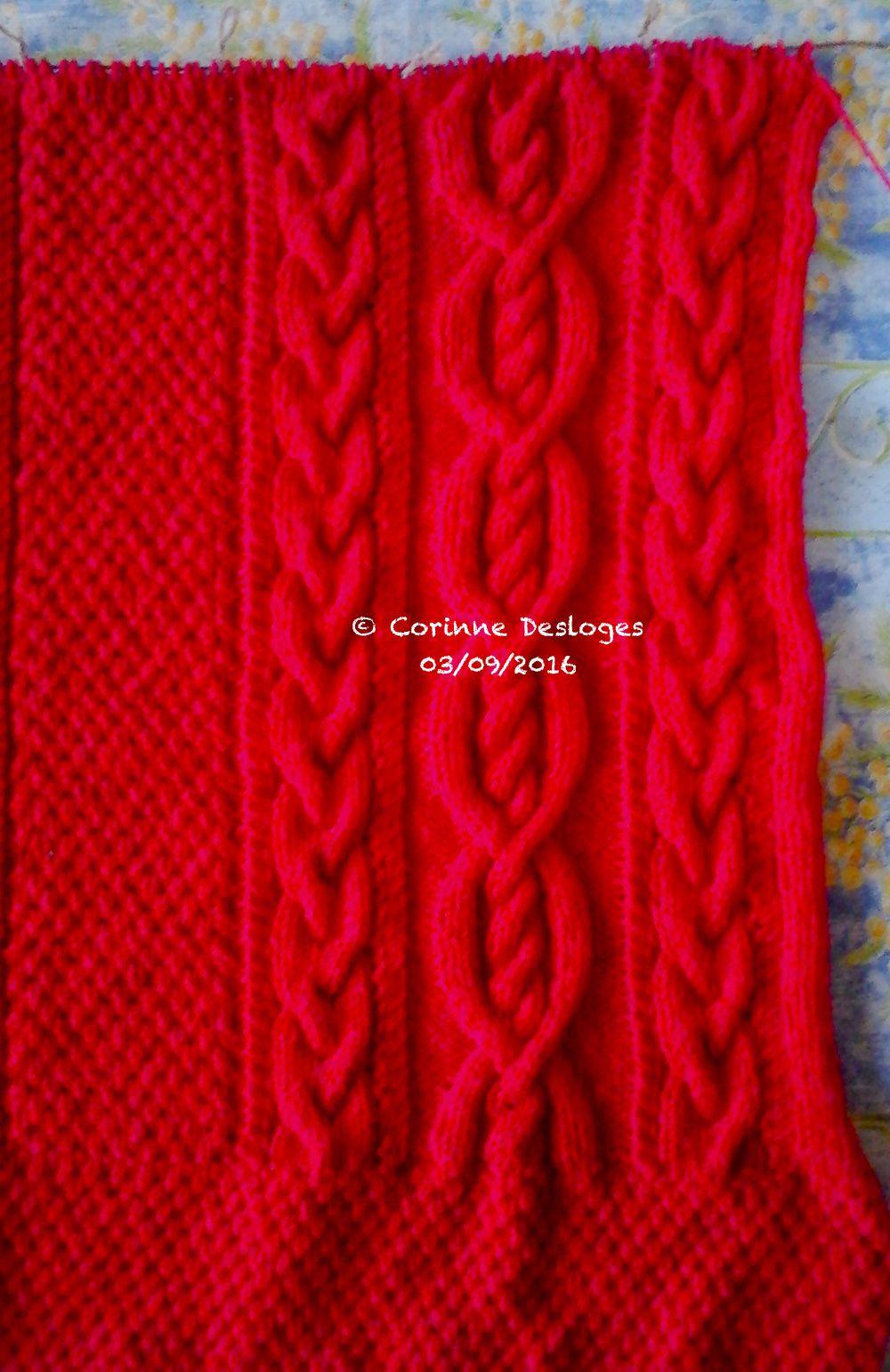 TRICOT : veste &quot&#x3B;Chaperon rouge&quot&#x3B;, 6 : emmanchures !