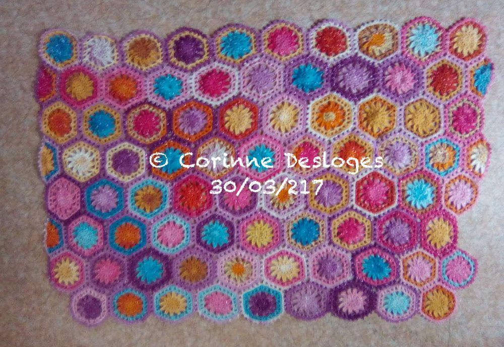 CROCHET : hexaplaid 11