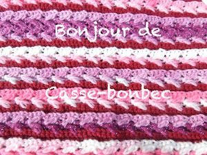 CROCHET : grannies en coton pour Octobre Rose