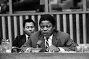 Justin Bomboko, lors de ses interventions à l'ONU