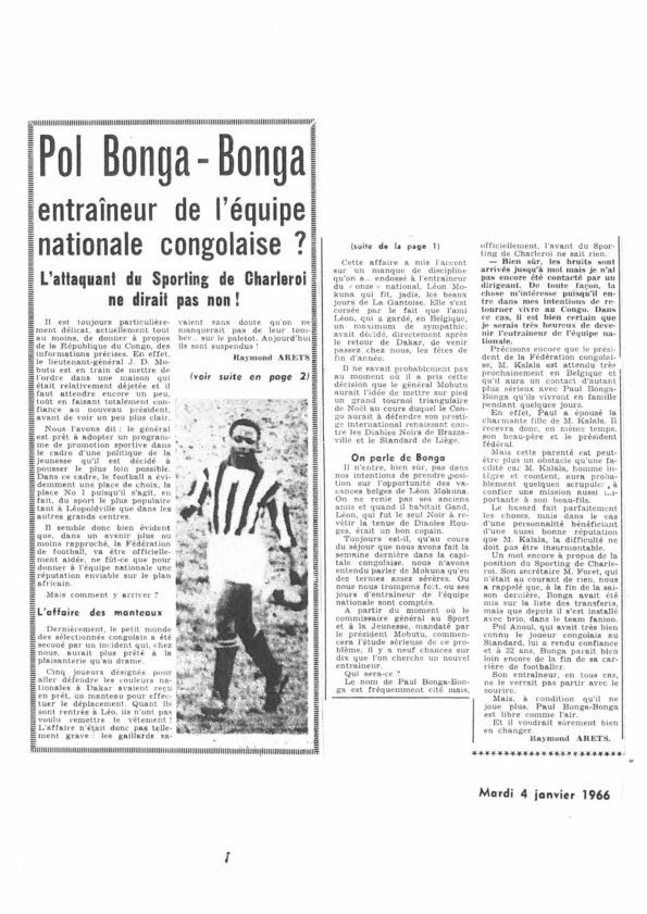 Encore un article d'archive sur Paul Bonga Bonga.