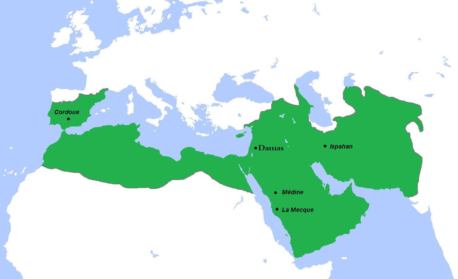 Le califat ommeyade à son apogée.