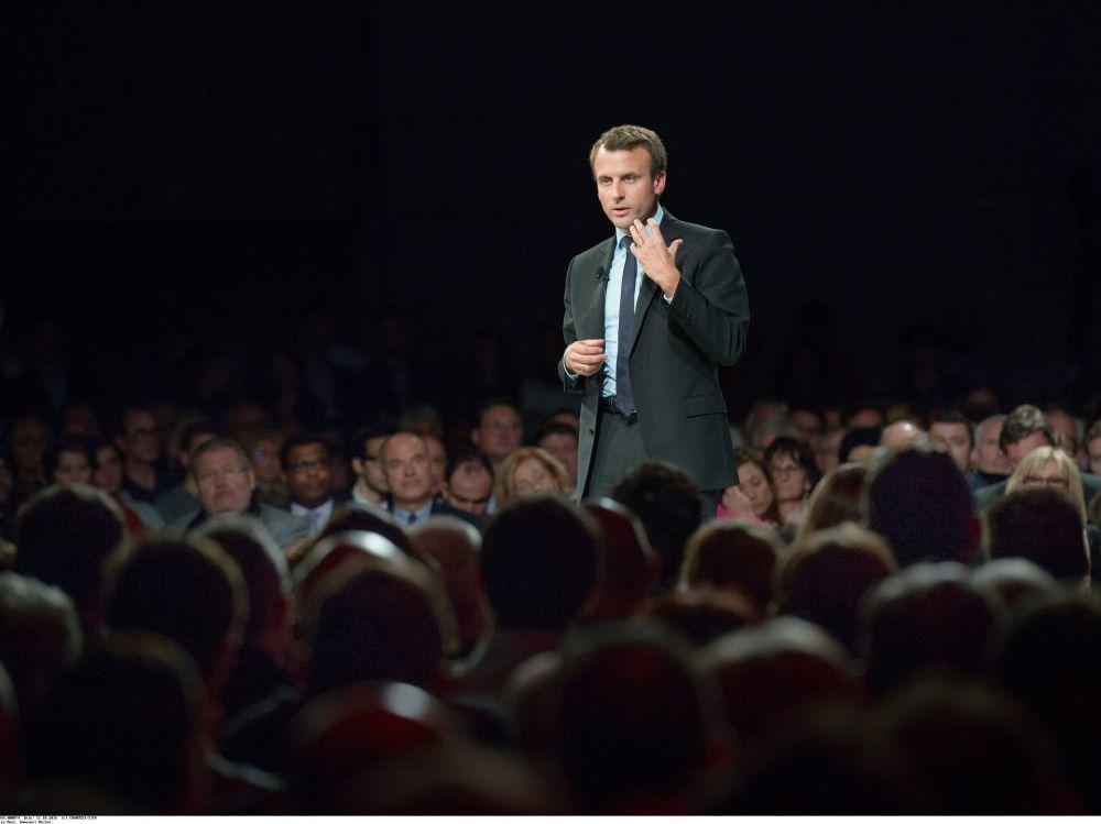 Emmanuel Macron en meeting au Mans le 11 octobre. SIPA/CHAMUSSY