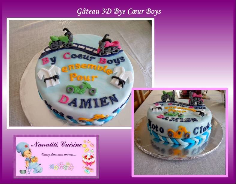 Gâteau 3D Bye Coeur Boys