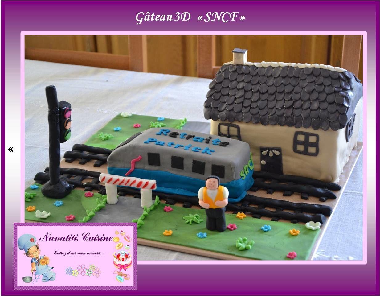 Gâteau 3D &quot&#x3B;SNCF&quot&#x3B;