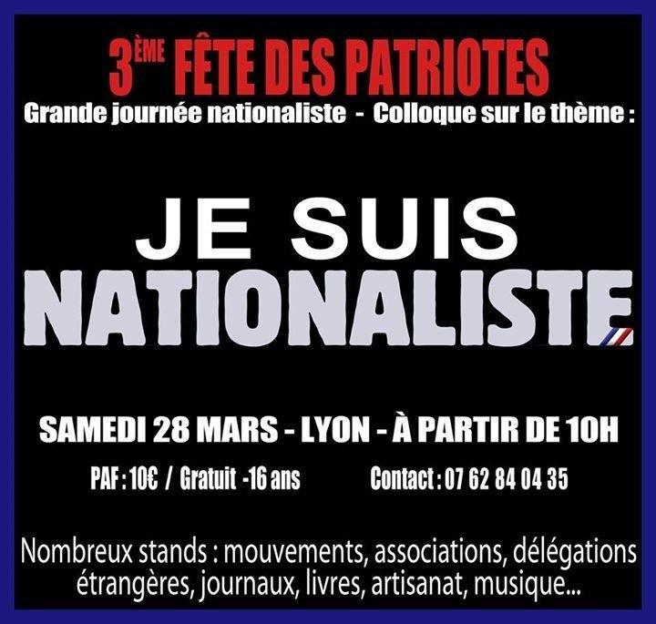 3e édition de la fête des Patriotes à Lyon le 28 mars
