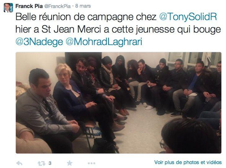 Franck Pia, candidat UMP-UDI sur Beauvais 2, avait rendez-vous en terre inconnue à Saint-Jean