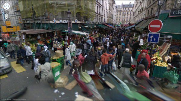 Google maps, street view Paris