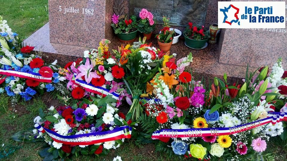 Le Parti de la France rend hommage aux victimes de la rue d'Isly à Marignane