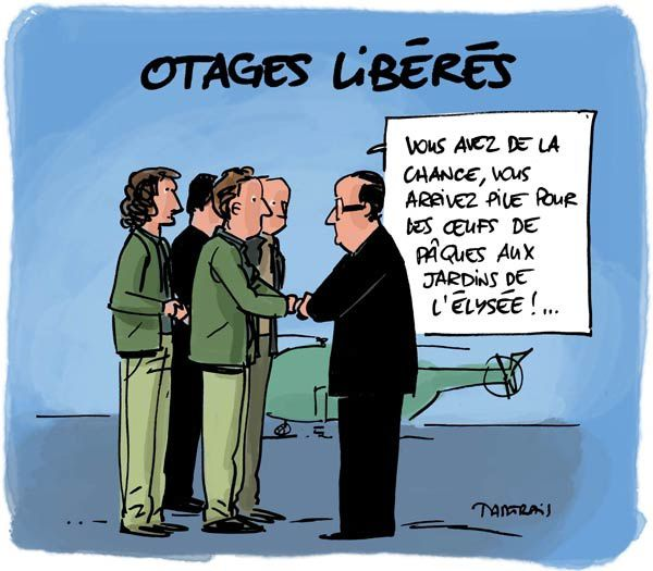 Hollande, Syrie, journalistes, otages