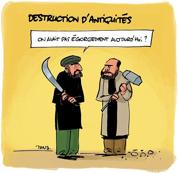 Destruction d'antiquité