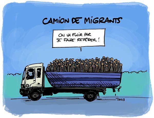 Camion de migrants