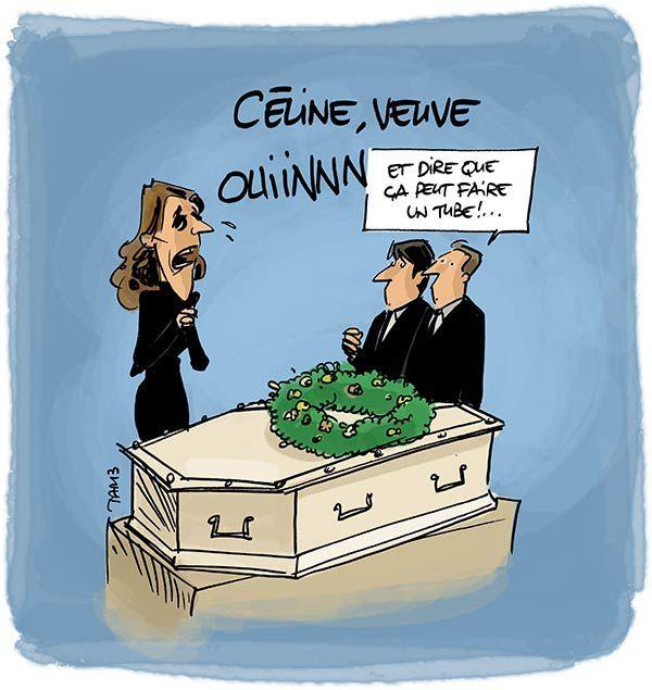 Céline Dion, veuve