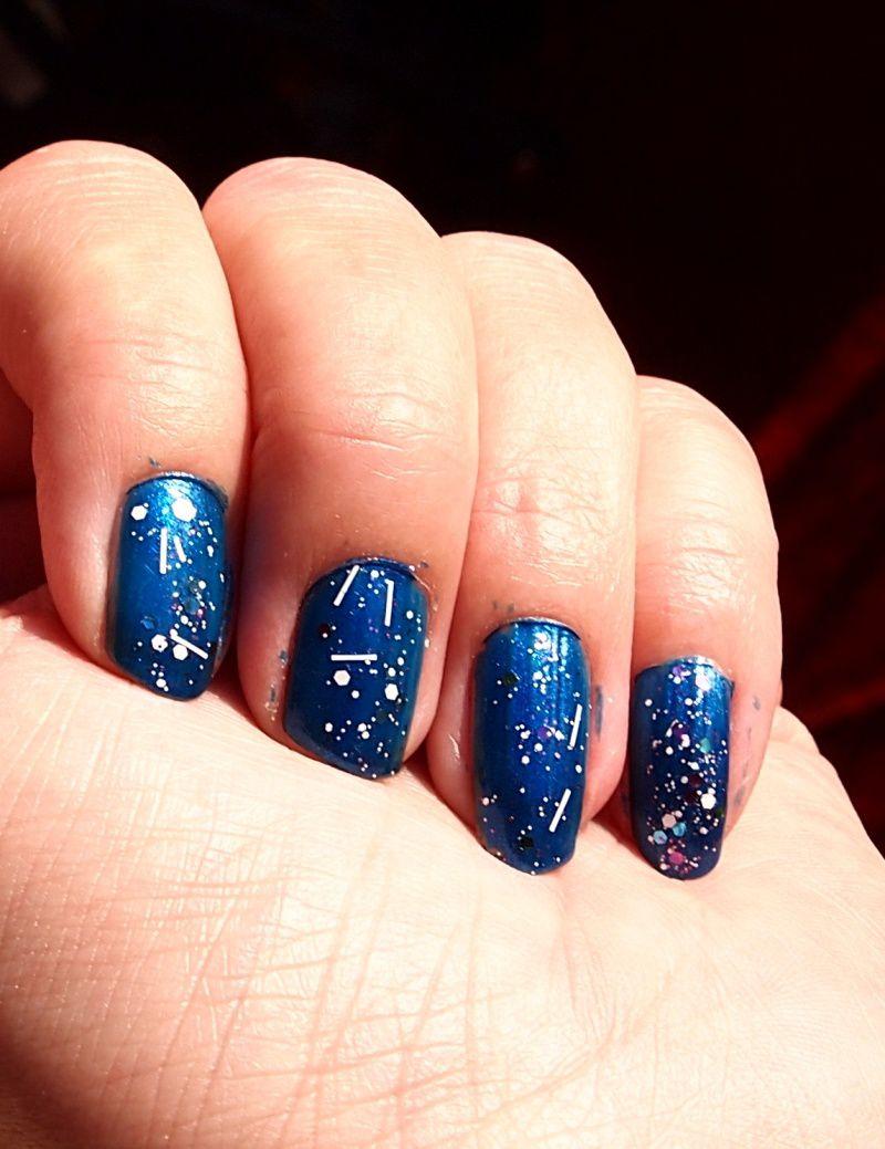 ocean blue 6661 + white splatter 02