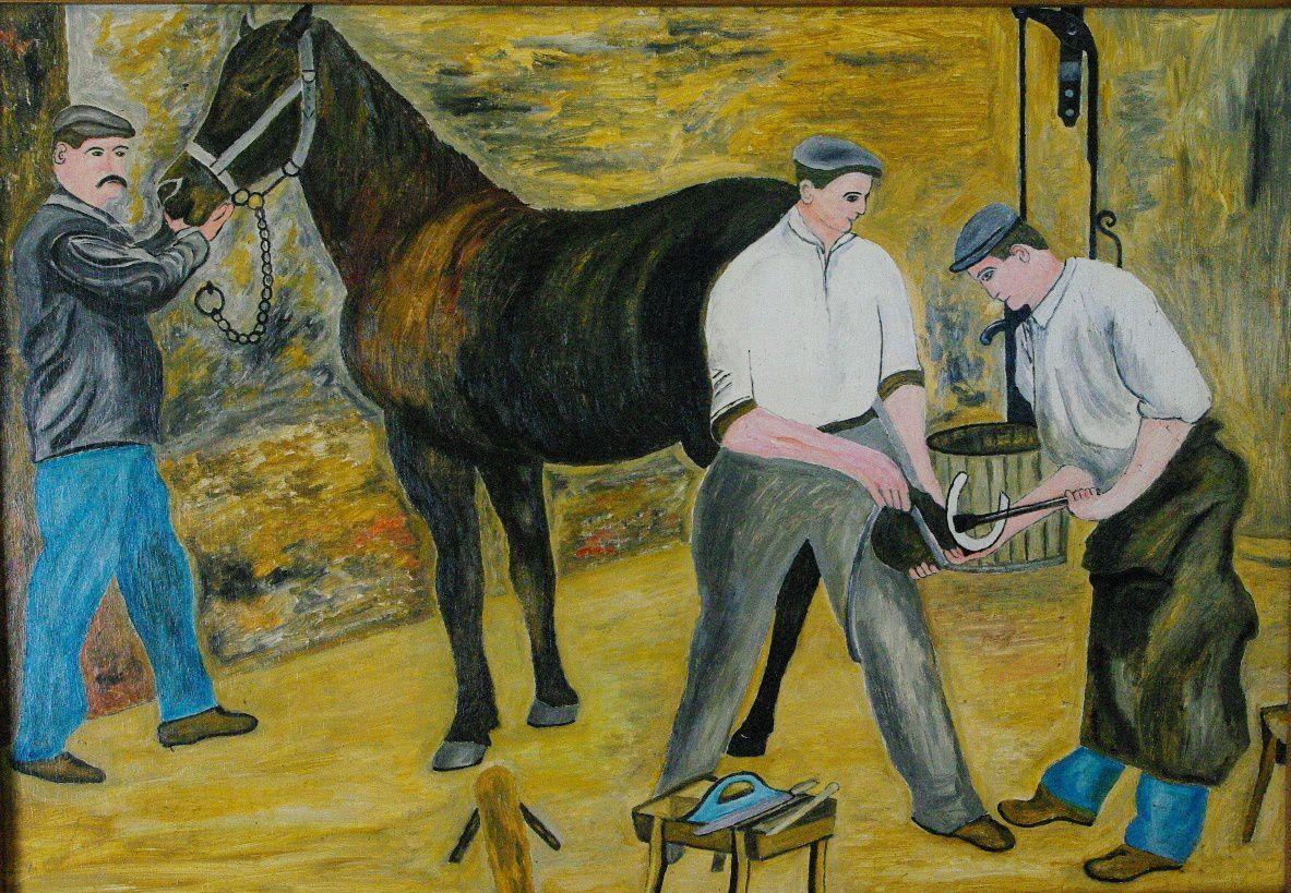 mr joseph adorait un peindre,un tableau par jour au moins et surtout et avant tout des images resurgies de sa mémoire d'enfant de janvry
