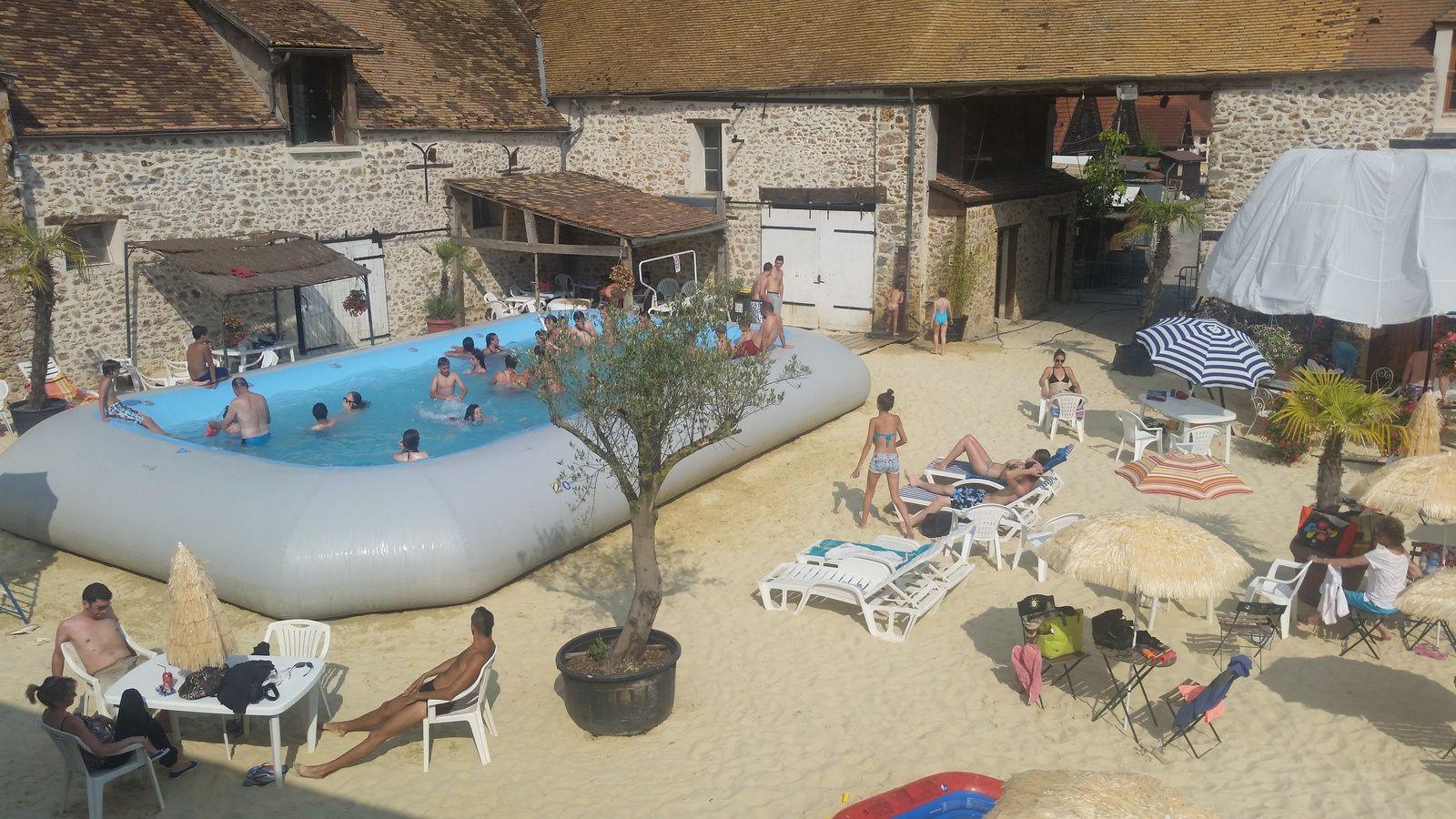 la plage de janvry ,l'oasis accueille les voyageurs de la canicule