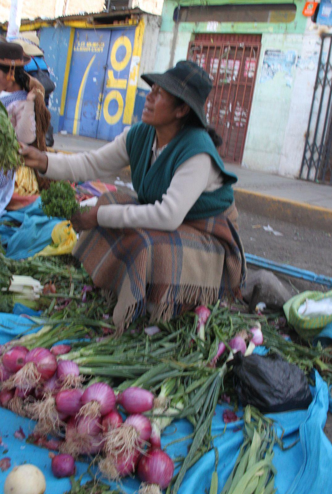 portraits volés au marché de puno