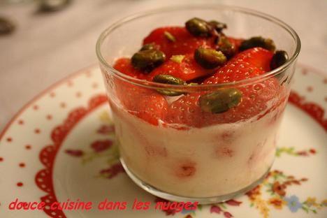 Panna cotta aux fraises gariguettes du lot et garonne