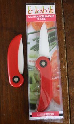 Zesteur-pulpeur et couteau céramique pliable Elle à table à gagner