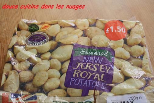 &quot&#x3B;Jersey Royal&quot&#x3B; potatoes aux oignons, estragon et whisky