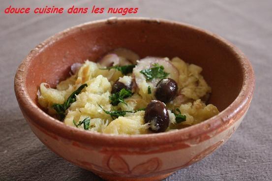 Une salade de morue à la portugaise